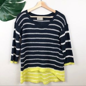 RD Style Striped Hi-Low Sweater - S